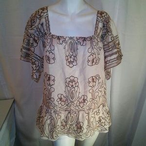 Anna Sui Tops - Anna Sui Floral Blouse Large